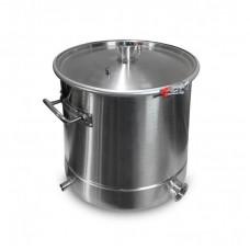 """Куб 25л 304 сталь (кастрюля, крышка с выходом 1,5"""", П-образная прокладка, регулируемый обруч)"""