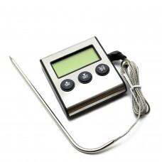 Термометр с проводным термосенсором и звуковым оповещением (ТР-700)