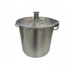 """Куб 20  литров (кастрюля, крышка с выходом 1,5"""", П-образная прокладка, регулируемый обруч)"""