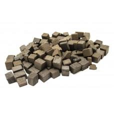 КУБИКИ дубовые (кубики), сильный обжиг, 100 гр.