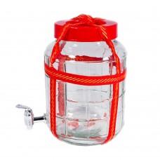 """Банка """"PREMIERE"""" с гидрозатвором и краном 15 литров"""
