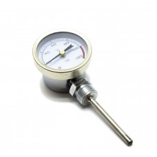 Термометр биметаллический, диапазон 0-120гр.С, стальной корпус, класс точности 1,5